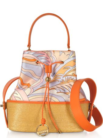 Emilio Pucci Viscose And Cotton Bucket Bag