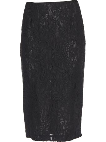 Brognano Embroidered Lace Skirt