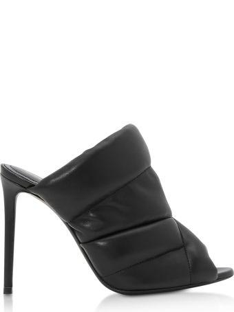 Nicholas Kirkwood Black Nappa Leather 105mm Puffer Mules