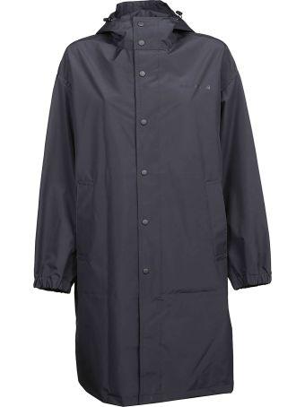 Helmut Lang Hooded Mid-length Raincoat