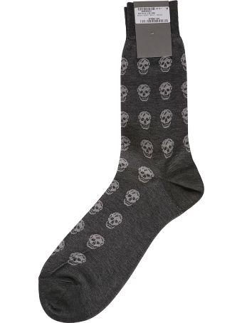 Alexander McQueen Skull Detail Knit Socks
