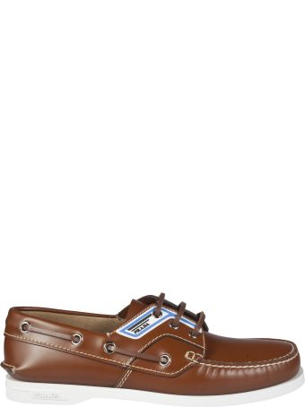 Prada Paneled Boat Shoes