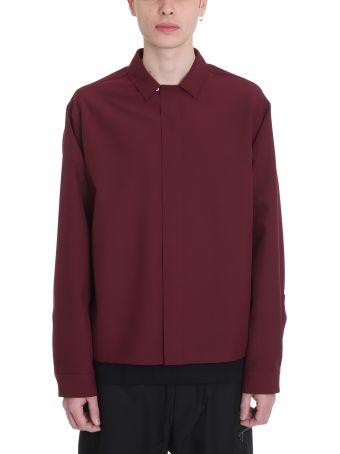 OAMC Bordeaux Polyester Shirt