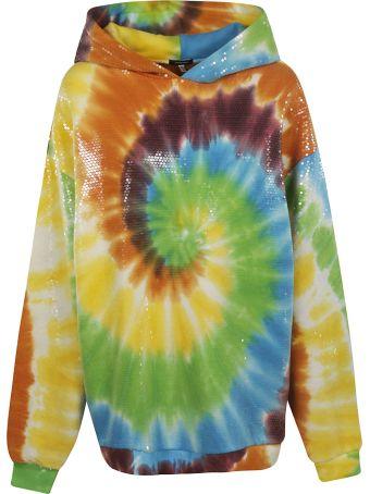 R13 Tie Dye Sequin Embellished Hoodie