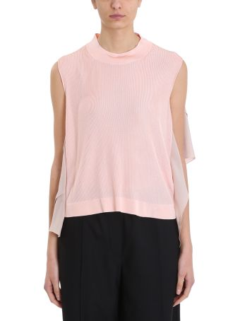 Maison Flaneur Pink Viscose Knit Sweater