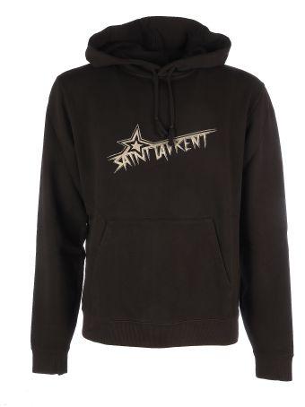 Saint Laurent Logo Star Cotton Sweatshirt