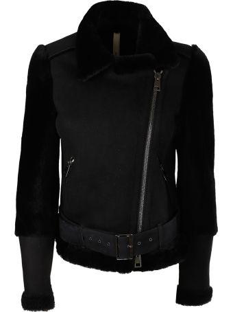 Unfleur Black sheepskin jacket