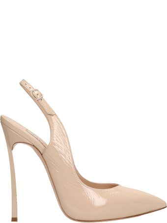 Casadei Beige Patent Leather Pumps