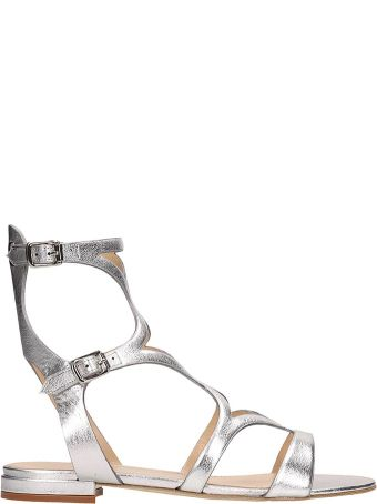 The Seller Silver Leather Slave Sandals