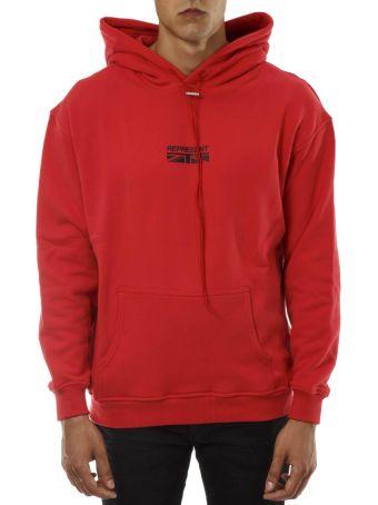 REPRESENT Red Cotton Hoddie Sweatshirt