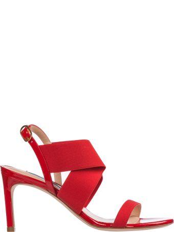 Stuart Weitzman  Leather Heel Sandals Alana
