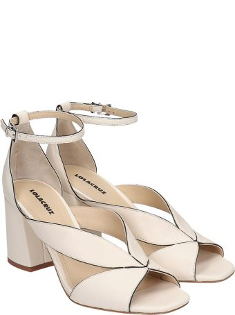 Lola Cruz Sandals In White Leather