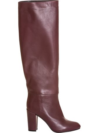 Essentiel Antwerp Burgundy Leather Knee-high Boots