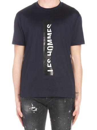 Les Hommes 'ripped Logo' T-shirt