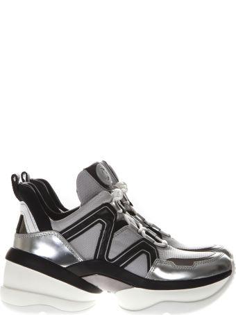 MICHAEL Michael Kors Silver Oversized Platform Sneakers