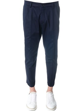Low Brand Oversized Navy Cotton Trousers