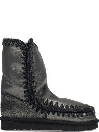 Mou Gunmetal Glitter Eskimo 24 Low Boot