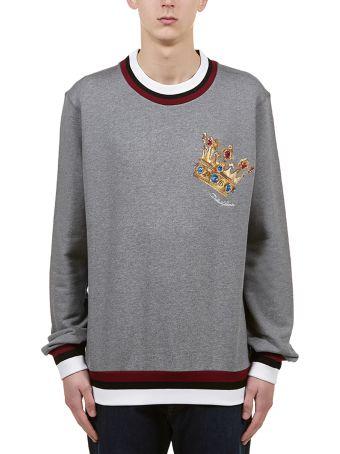 Dolce & Gabbana Crown Logo Patch Sweatshirt