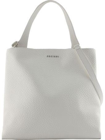 Orciani White Leather Jackie Shoulder Bag.