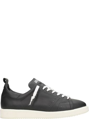 Golden Goose Starter Black Leather Sneakers