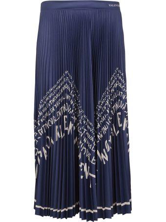 Valentino Long Pleated Maxi Skirt