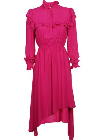 Jovonna Asymmetric Ruffle Dress