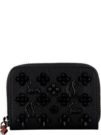 Christian Louboutin Black/trablack Leather Wallet