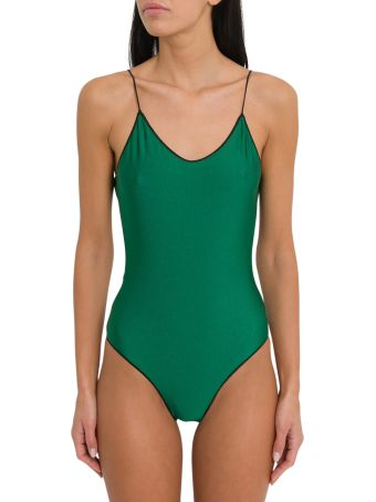 Oseree Travaille Maillot One Piece Swimsuit With Lace Detail