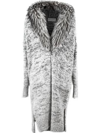 Fabiana Filippi Cardi-coat In Grey Wool Blend.