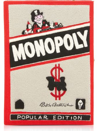 Olympia Le-tan Cotton And Wool Monopoly Popular Edition Book Clutch