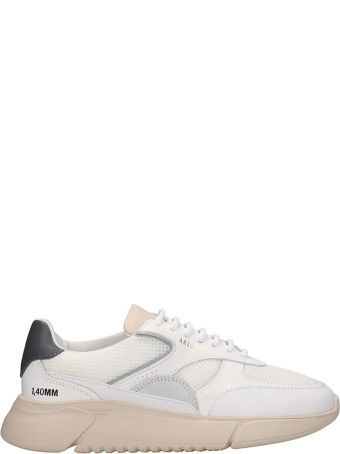 Axel Arigato Genesis Sneakers In White Leather And Fabric