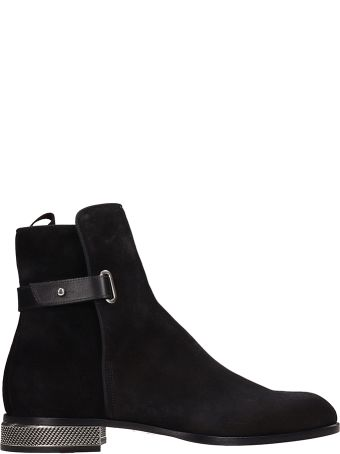 Christian Louboutin Black Suede Cortino Ankle Boots