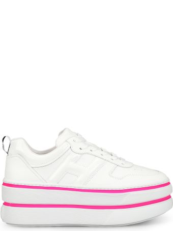 Hogan H449 Oversized White Leather Sneakers