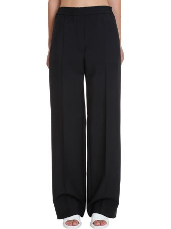 Acne Studios Pamine Who Pants In Black Cotton