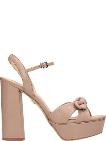 Lola Cruz Taupe Leather Sandals