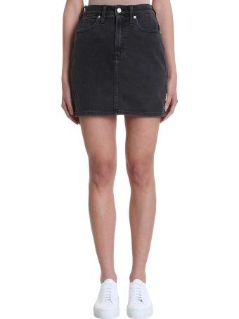 Calvin Klein Jeans Mini Black Denim Skirt