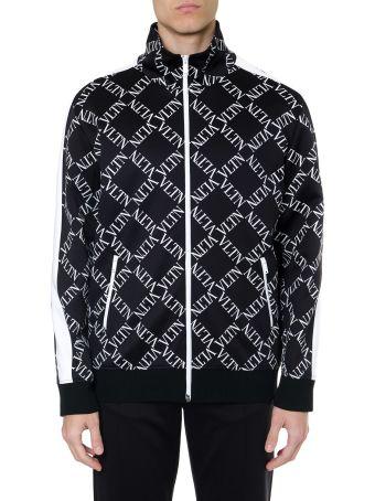 Valentino Black Cotton Blend Vltn Track Jacket