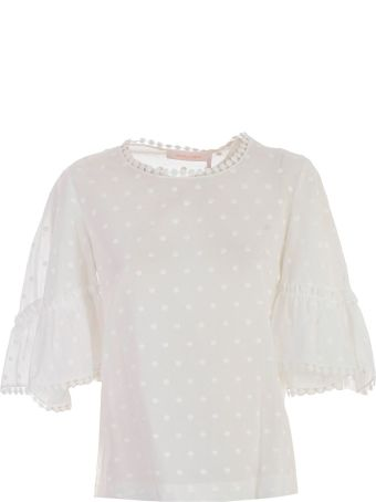 See by Chloé Dot Embroidered Blouse