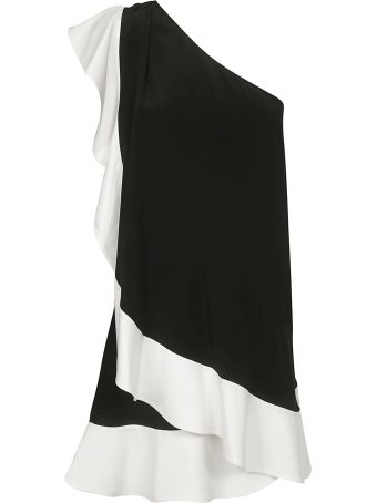 Givenchy One Shoulder Ruffled Dress