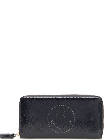 Anya Hindmarch Zip-around Wallet With Smiley