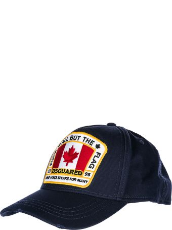 Dsquared2 Adjustable Cotton Hat Baseball Cap Canada Patch Baseball