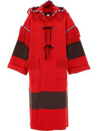 Alanui Felt Coat With Embroidery