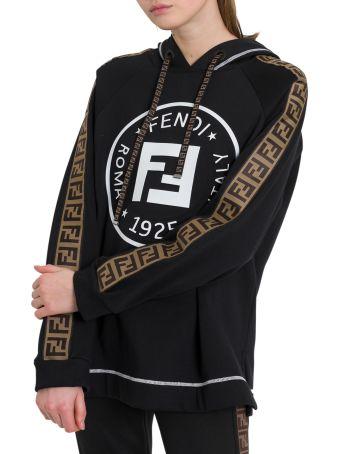 Fendi Logo Hoodie With Taping