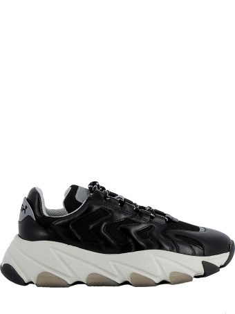 Ash Black Leather/fabric Sneakers