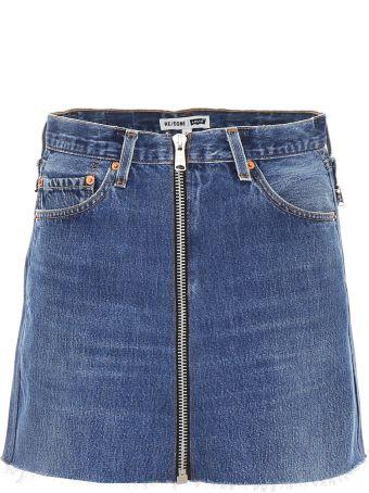 RE/DONE Reconstructed Denim Mini Skirt