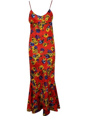 ATTICO Floral Printed Maxi Dress