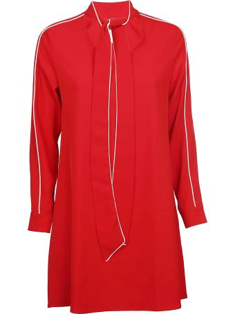 Jovonna Tie Up Collar Dress