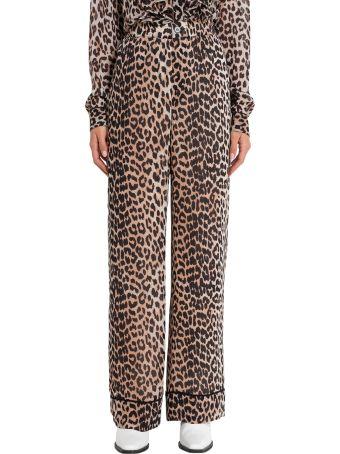 Ganni Mullin Leopard Print Pijama Trousers