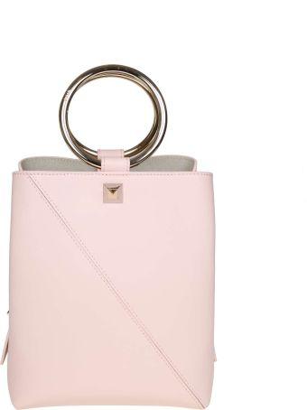 Salar Lola Leather Handbag Color Powder
