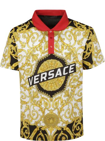 Versace Printed Polo Shirt